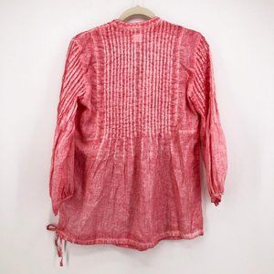 120 Lino Tops - 120% Lino Tunic Shirt Blouse Linen Lagenlook Top